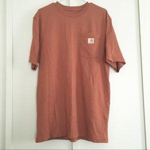Carhartt original fit rust red orange tee NWOT